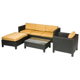 George 4 Piece Sunbrella Conversation Set with Cushions
