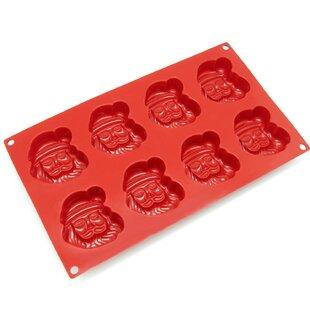 8 Cavity Holiday Santa Claus Silicone Mold Pan