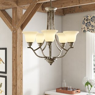Abdou 5-Light Shaded Chandelier by Ophelia & Co.