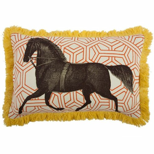 Thomas Paul Horse 40x40 Linen Lumbar Pillow Wayfair Amazing Calvin Klein Madeira Decorative Pillow