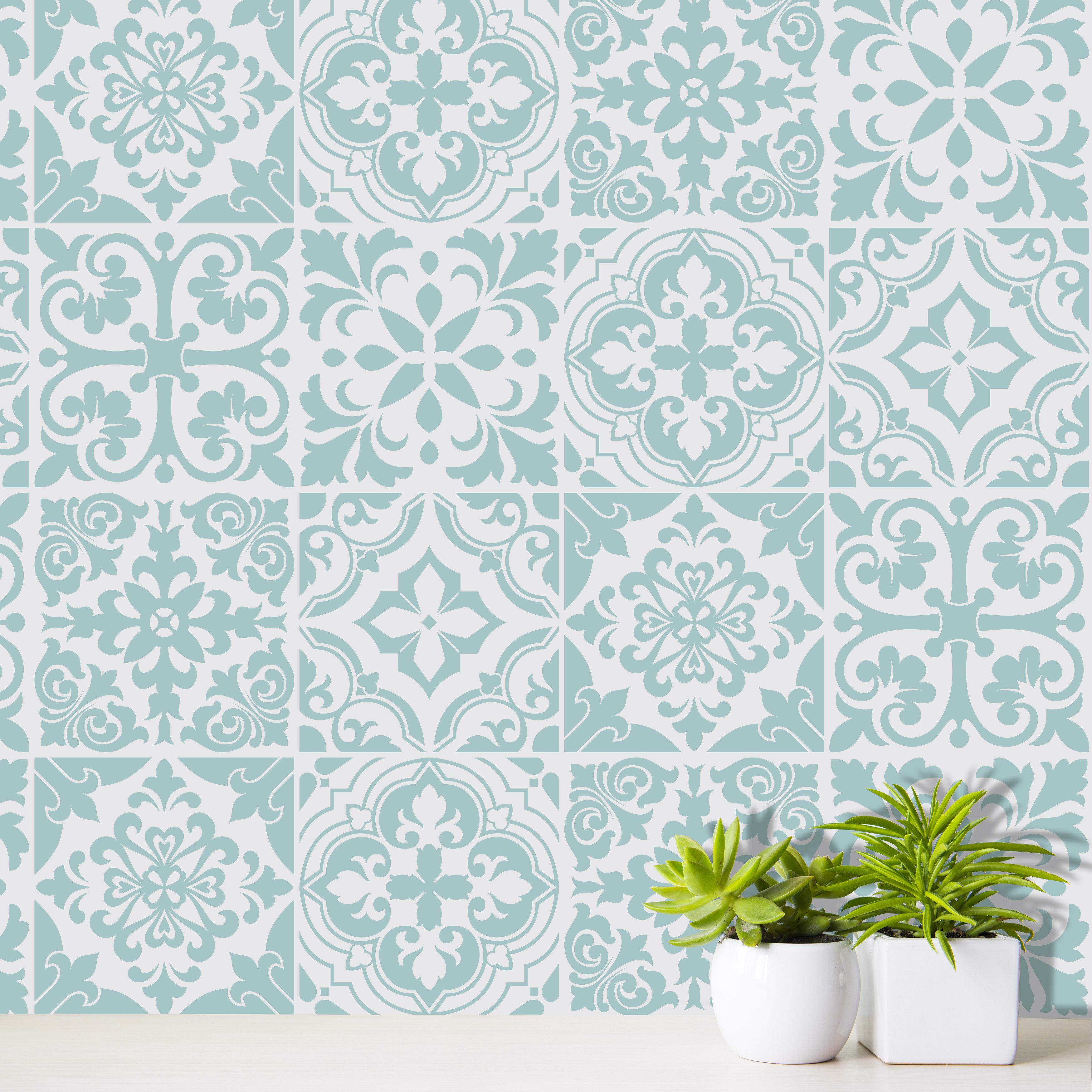 Stencil Tile Window Decal Set