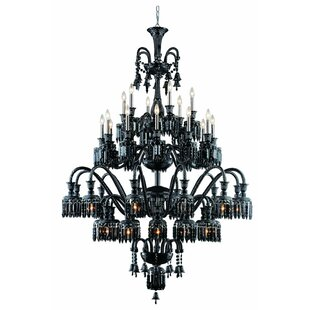 Rosdorf Park Leonardo 42-Light Metal Candle Style Chandelier