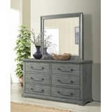 Olivari Svensson 6 Drawer Double Dresser with Mirror by Red Barrel Studio®