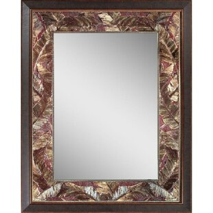 Tropical Leaf Accent Wall Mirror byWorld Menagerie