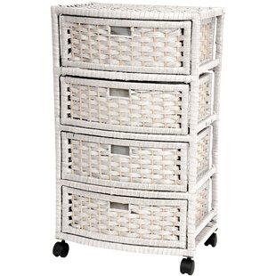 Best Choices Bogard 4 Drawer Rolling Storage Chest ByAndover Mills