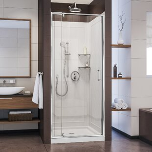 Flex 32 X 76 75 Square Pivot Shower Enclosure With Base Included