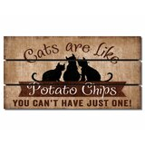 Slatted Pallet Wood Magnet Cats Wall Décor by Winston Porter