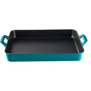 Shallow Cast Iron Roasting Pan