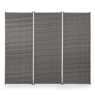 Zula Indoor 3 Panel Room Divider Finish: Brown by Darby Home Co