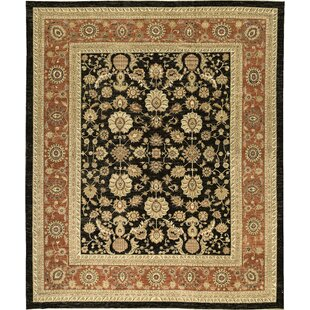 Best Reviews One-of-a-Kind Signature Hand-Knotted Wool Black/Yellow/Red Area Rug By Bokara Rug Co., Inc.