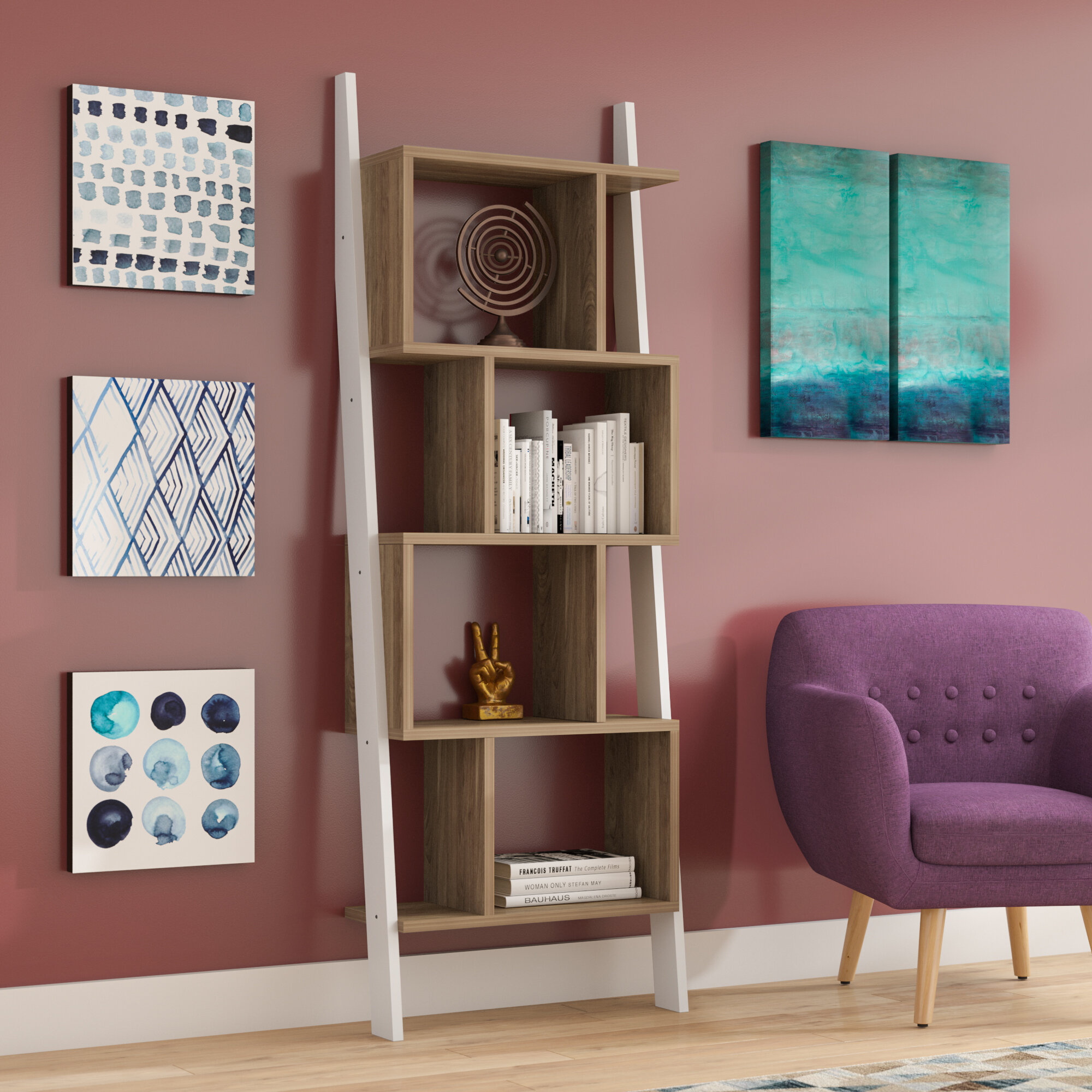 Canchola Leaning Ladder Bookcase