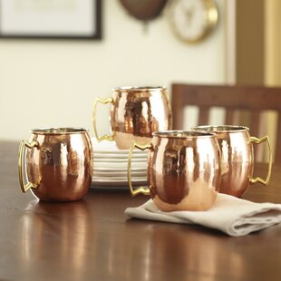 Russet Moscow Mule 16 oz. Copper Mug (Set of 4)