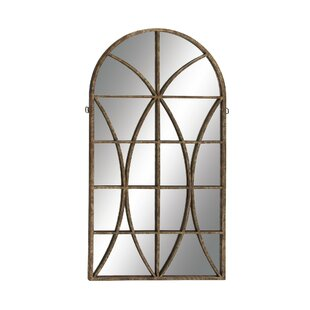 Metal and Wood Traditional Wall Mirror