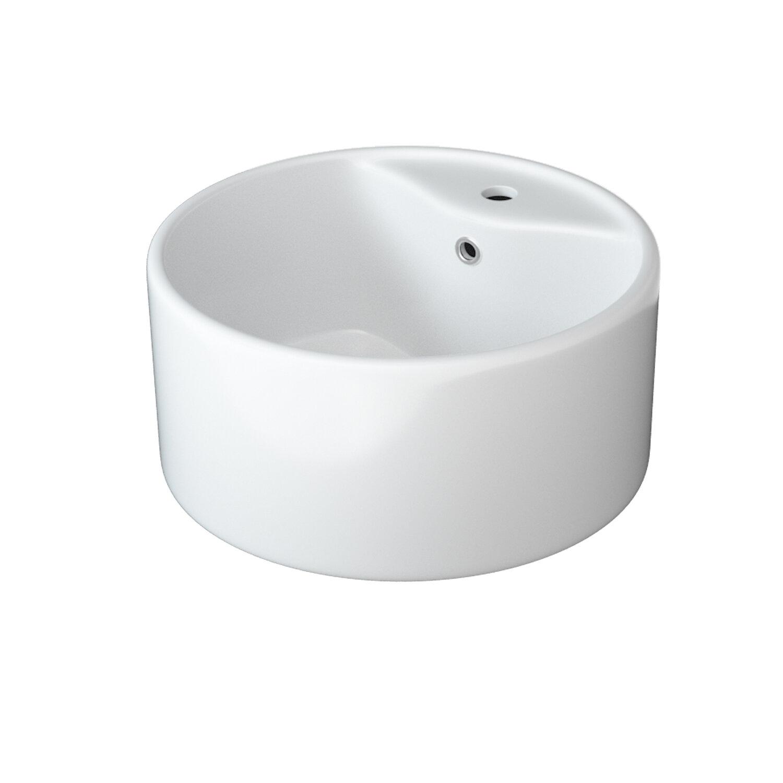 Warehouse Union White Ceramic Circular Vessel Bathroom Sink With Overflow Wayfair