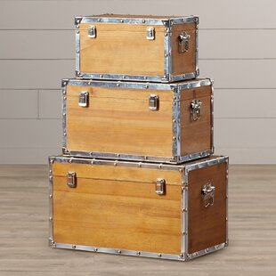 August Grove Weippe 3 Piece Trunk Set