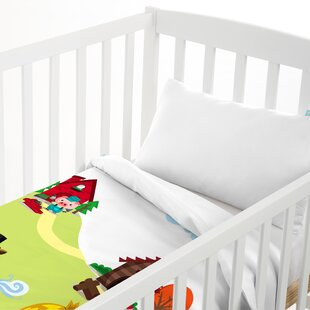 Little Pigs 2-Piece Cot Bedding Set by Happy Friday