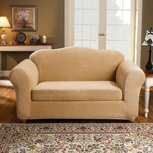 Royal Diamond Box Cushion Loveseat Slipcover