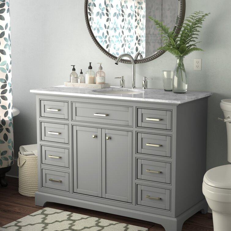 Andover Mills Rossi 48 Single Bathroom Vanity Set Reviews Wayfair