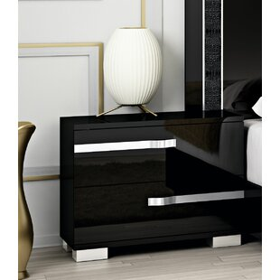Affordable Quiana 2 Drawer Nightstand by Orren Ellis