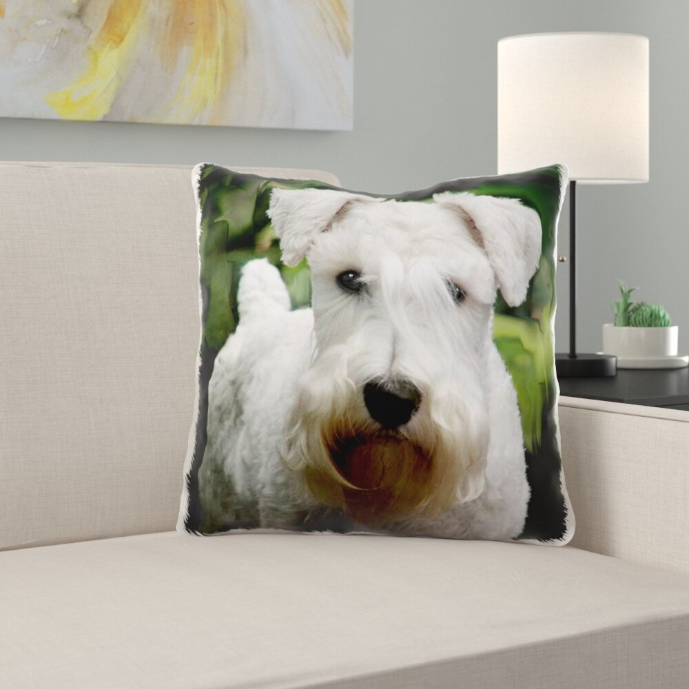East Urban Home Vintage Series Schnauzer Pillow Cover Wayfair
