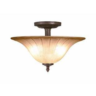 Broadmore 2-Light Semi Flush Mount by Woodbridge Lighting