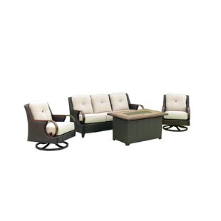 Marilee Outdoor 4 Piece Sofa Seating Group with Cushions