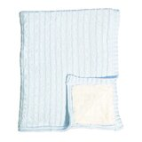 Cable Knit Deitz Baby Blanke T- Blue