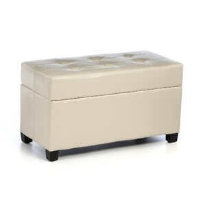 Chesterhill Vinyl Storage Ottoman by Red Barrel Studio