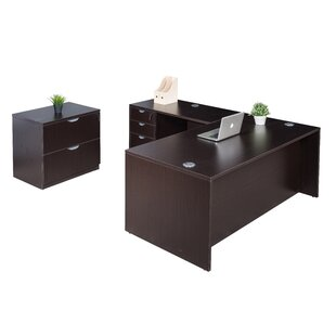 Where buy  4 Piece L-Shape Desk Office Suite By Symple Stuff