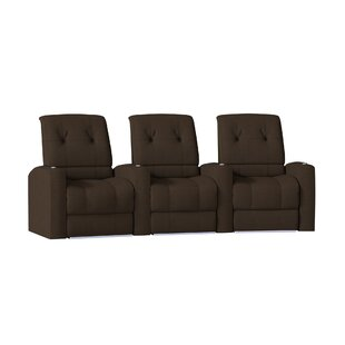 Latitude Run Large Blue LED Home Theater Curved Row Seating (Row of 3)
