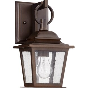 Read Reviews Bridport 1-Light Outdoor Wall Lantern By Canora Grey