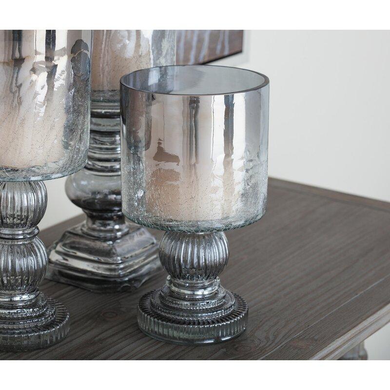 Charlton Home Traditional Glass Hurricane Wayfair