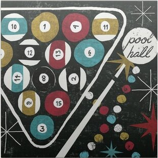 'Vegas Pool Hall' by Michael Mullan Graphic Art Print by Great Big Canvas