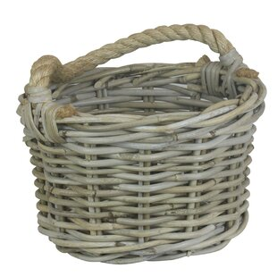 Rope Handled Apple Rattan 2 Piece Basket Set By Beachcrest Home