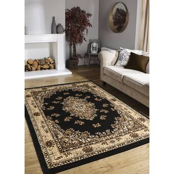 Everly Quinn Vanarsdale Animal Print Gray Area Rug Wayfair