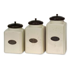 Unmissable 3 Piece Kitchen Canister Set
