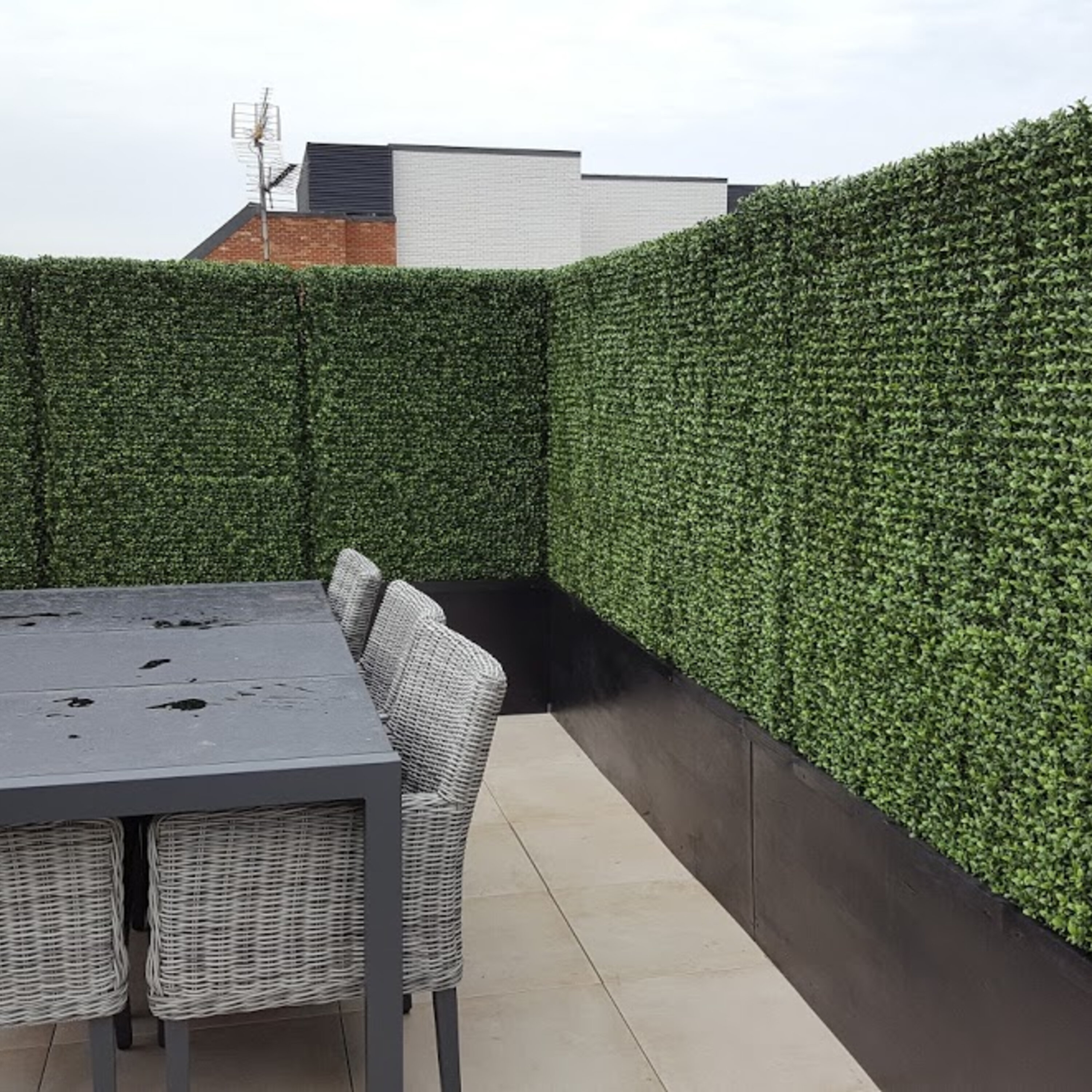 Use It As Greenery Walls Privacy Screen Panels 20 X 20 Artificial Boxwood Topiary Hedge Plant Suitable For Outdoor Or Indoor Garden Or Backyard And Home Decorations 12 Without White Flowers Tutiflores Com Br