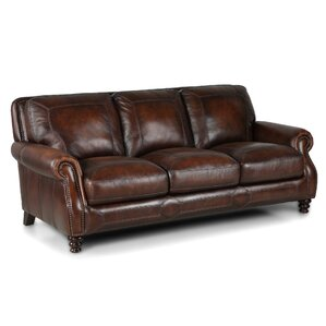 Goldhorn Leather Sofa by Darby Home Co