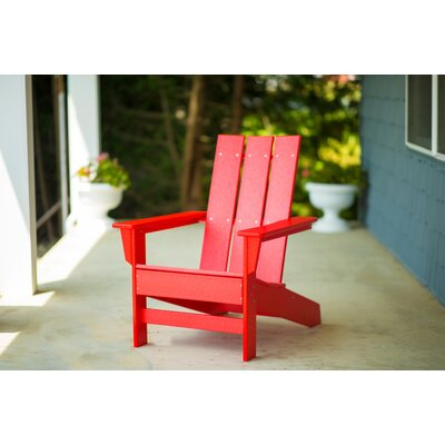 Oakdale Plastic Adirondack Chair Color: Bright Red