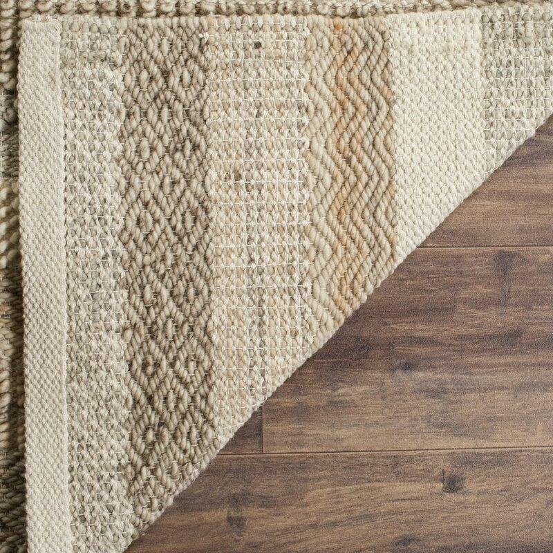 Daytona Beach Hand Tufted Wool Cotton Brown Beige Area Rug