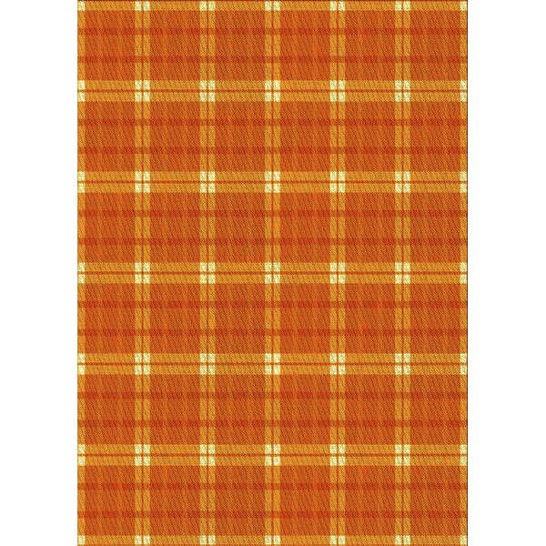 East Urban Home Plaid Wool Yellow Area Rug Wayfair