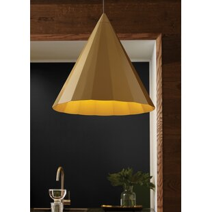 Crossland 1-Light Cone Pendant by George Oliver