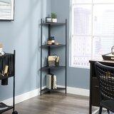 Webster 47.5 H x 17.3 W Metal Corner Bookcase by Symple Stuff