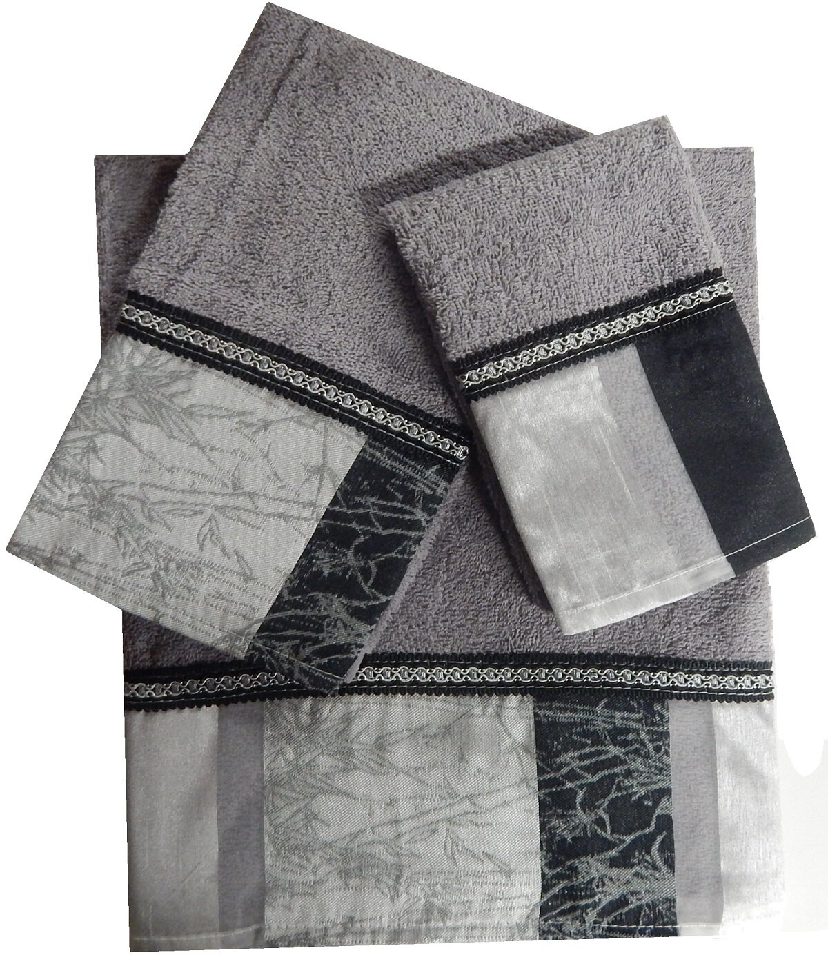 D Orlando 3 Piece 100 Cotton Towel Set