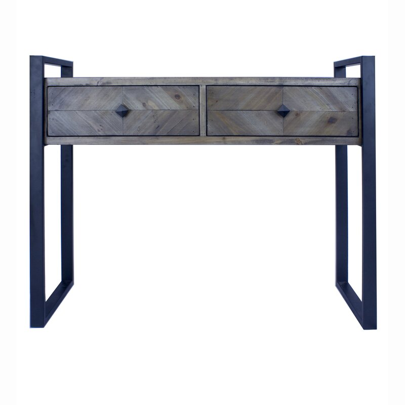 17 Stories  Delphine 2 Drawer Console Table Color: Gray