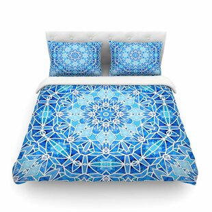 Star Snowflake by Art Love Passion Featherweight Duvet Cover