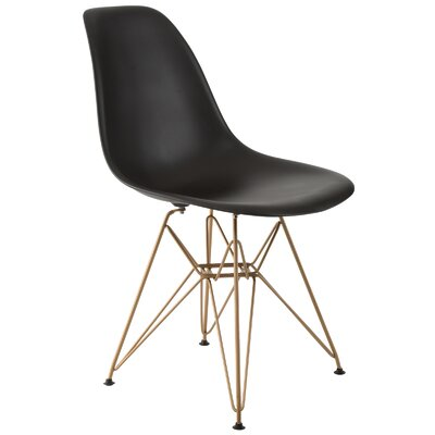 Mohnton Dining Chair Seat Color: Black by Wade Logan