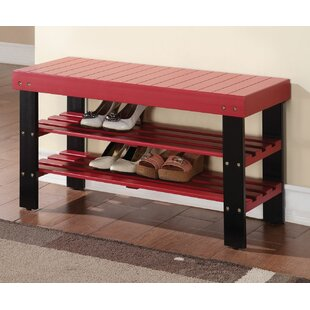 Winston Porter Perez Wood Storage Bench
