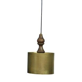 Mistana Pratunam Iron/Wooden 1-Light Drum Pendant