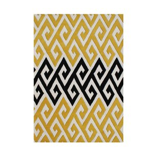 Roseburg Hand-Tufted Yellow Area Rug By The Conestoga Trading Co.